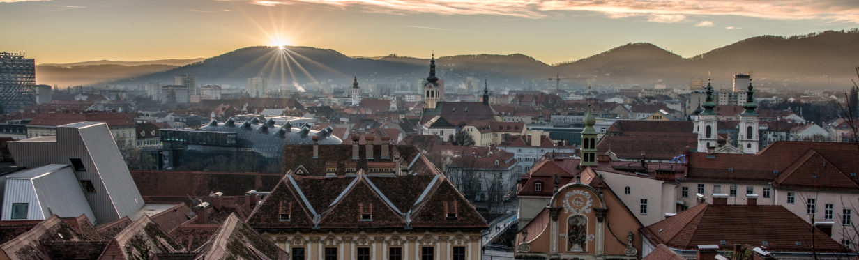 Graz - Cityscape with Sunset